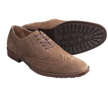 Peter Millar Wingtip Oxford Shoes - Suede (For Men) in Mink - Closeouts