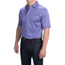Peter Millar Wink Jacquard Cotton Lisle Polo Shirt - Short Sleeve (For Men) in Parade - Closeouts