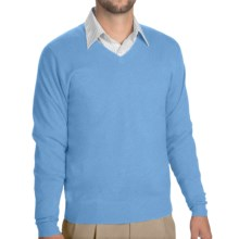 Peter Millar Wool-Silk-Cashmere Sweater - V-Neck (For Men) in Tar Heel Blue - Closeouts