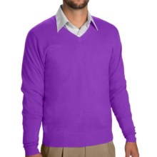 Peter Millar Wool-Silk-Cashmere Sweater - V-Neck (For Men) in Valencia - Closeouts