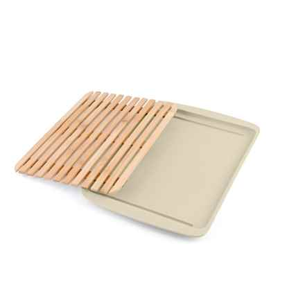 Peterson Housewares Bamboo Cutting Board with Serving Tray in White - Closeouts