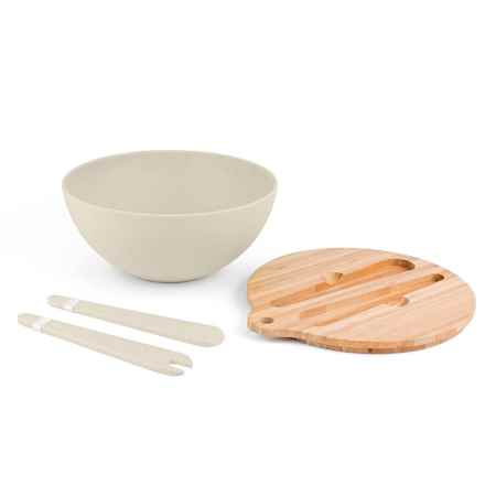 Peterson Housewares Bamboo Salad Bowl Set - 4-Piece in White - Closeouts