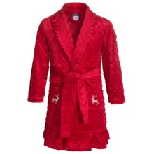 Petit Lem Ooh It's Christmas Robe - Long Sleeve (For Little and Big Kids) in Red - Closeouts