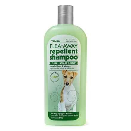 Petkin Away 2-IN-1 Smart Scent Dog Shampoo - 16 fl.oz. in Flea-Away - Closeouts