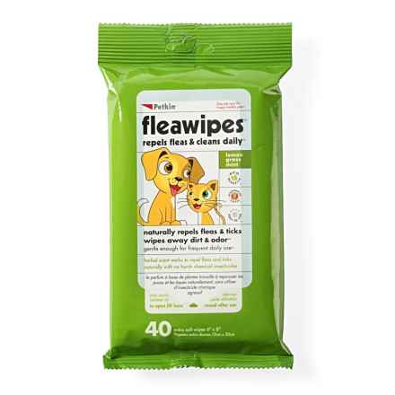 Petkin Flea Wipes - 40-Count in See Photo - Closeouts