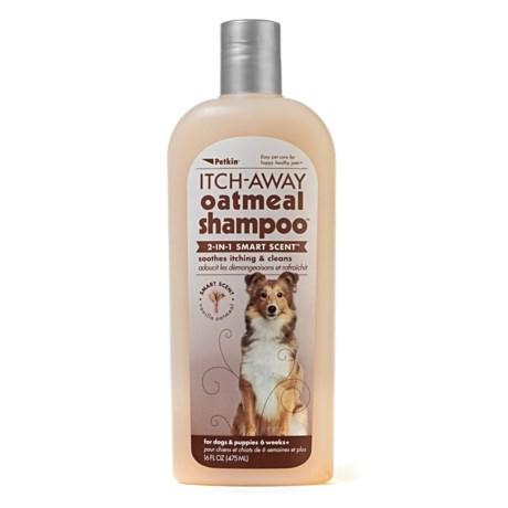 Petkin Itch-Away Oatmeal Shampoo - 16 fl.oz. in See Photo