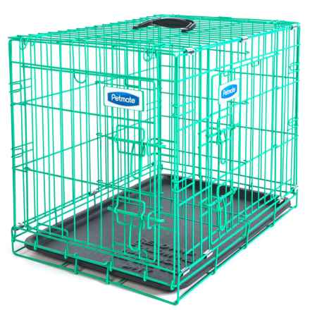 "Petmate 2-Door Puppy Training Crate - 24x17x20"" in Green - Closeouts"