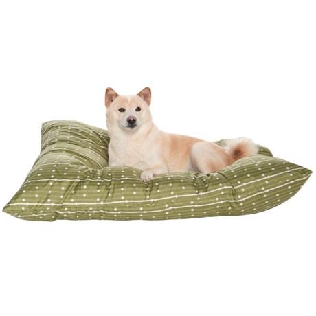 "Petmate Aspen Pet Knife Edge Pillow Dog Bed - 30x40"" in Green Dot"