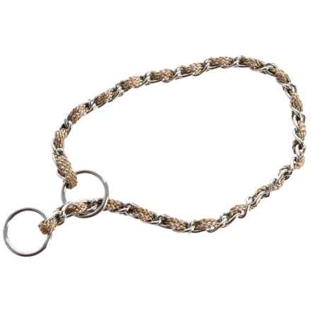 Petmate Comfort Chain Dog Collar in Beige - Closeouts