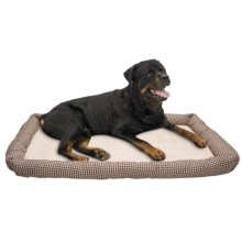 Petmate Houndstooth Dog Crate Mat - Large in Tan - Closeouts