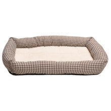 Petmate Houndstooth Dog Crate Mat - Small in Tan - Closeouts
