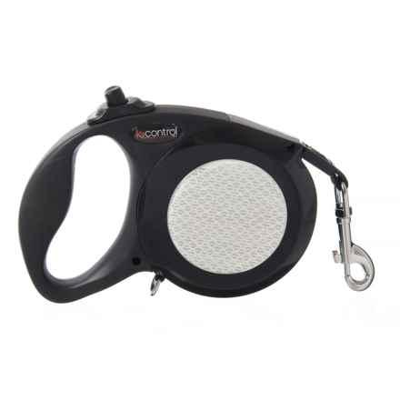 Petmate K9 Control Retractable Dog Leash - Medium in Black - Closeouts