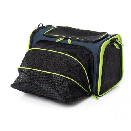 Petmate See and Extend Pet Carrier in Navy/Green