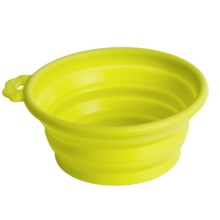Petmate Silicone Round Travel Bowl - 1.5 Cup in Go-Go Green - Closeouts
