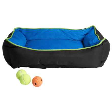 "Petmate Sporty Lounger Dog Bed - 30x24"" in Blue/Black - Closeouts"