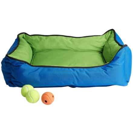 "Petmate Sporty Lounger Dog Bed - 30x24"" in Green/Blue - Closeouts"