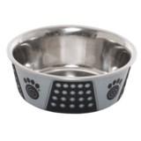 PetRageous Fiji Dog Bowl - 3-3/4 Cups, Stainless Steel