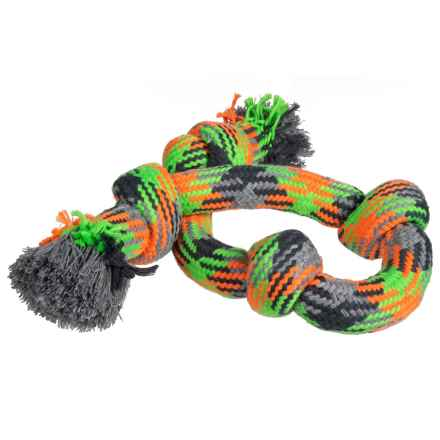 "PetRageous Four-Knot Rope Dog Toy - 25"" in Multi - Closeouts"