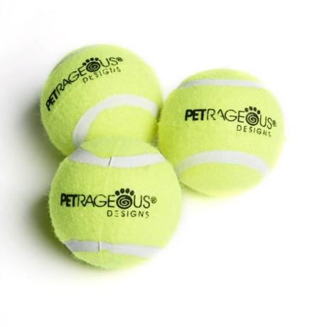 PetRageous PlayRageous Chaser Tennis Balls - 3-Pack