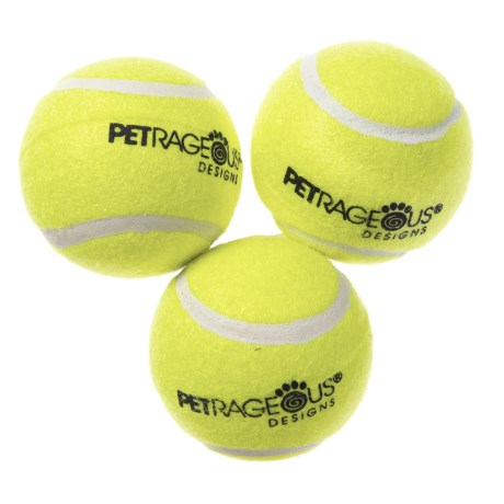 PetRageous PlayRageous Chaser Tennis Balls - 3-Pack in Multi