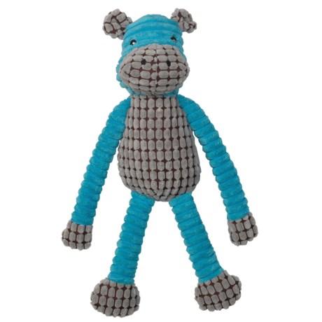 "PetRageous SafariRageous Hippo Squeaker Dog Toy - 16"" in Aqua"