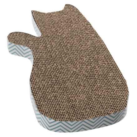 PetRageous Tom's Corrugated Cat Scratcher in Blue - Closeouts