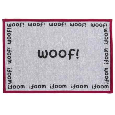 "PetRageous Woof Tapestry Placemat - 13x19"" in Multi - Closeouts"