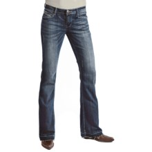 Petrol Avery Denim Jeans - Low Rise, Slim Fit, Wide Bootcut (For Women) in Dark Wash - Closeouts