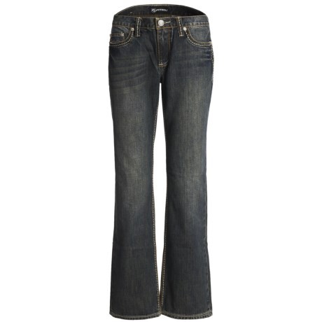 Petrol Bekah Denim Jeans - Mid Rise, Relaxed Fit, Bootcut (For Women) in Medium Wash