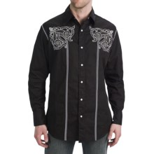 Petrol Decker Shirt - Snap Front, Long Sleeve (For Men) in Black - Closeouts