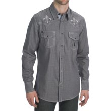 Petrol Derek Black Herringbone Shirt - Snap Front, Long Sleeve (For Men) in Black - Closeouts