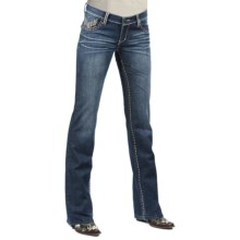 Petrol Hayden Denim Jeans - Low Rise, Slim Fit, Bootcut (For Women) in Dark Wash - Closeouts