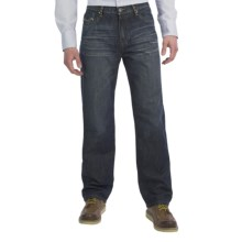 Petrol Henley Jeans - Regular Straight Fit (For Men) in Dark Wash - Closeouts