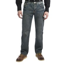 Petrol Jordan Jeans - Regular Straight Fit (For Men) in Med Wash - Closeouts