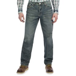 Petrol Macha Jeans - Relaxed Straight Fit (For Men) in Med Wash