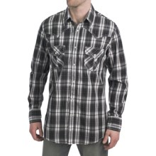 Petrol Rusty Plaid Shirt - Snap Front, Long Sleeve (For Men) in Black - Closeouts