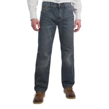 Petrol Seth Jeans - Regular Straight Fit (For Men) in Med Wash - Closeouts