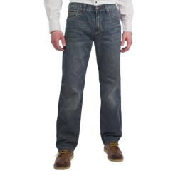 Petrol Seth Jeans - Regular Straight Fit (For Men) in Med Wash