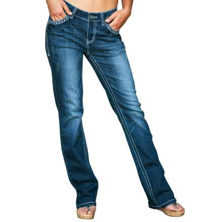 Petrol Tamara Jeans - Bootcut (For Women) in Dark Wash - Closeouts