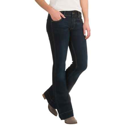 Petrol Trouser Jeans - Slim Fit, Bootcut (For Women) in Dark Wash - Closeouts