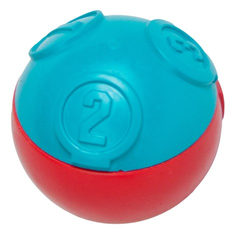Petstages Challenge Ball Dog Treat Dispenser in Blue/Red