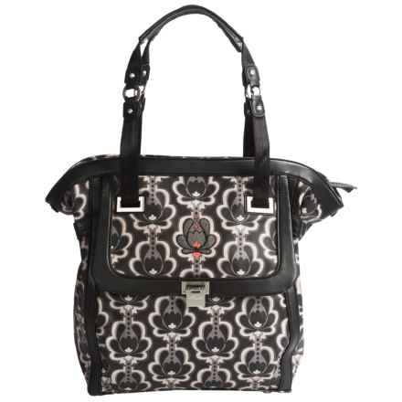 Petunia Pickle Bottom Continental Carryall Tote Bag (For Women) in Black Lotus - Closeouts
