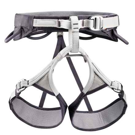 Petzl Adjama Climbing Harness (For Men and Women) in Dark Grey/Grey - Closeouts