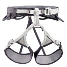 Petzl Adjama Climbing Harness (For Men and Women) in Dark Grey/Grey - Closeouts