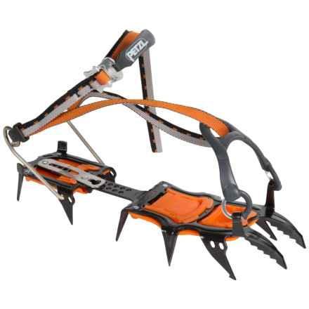 Petzl Sarken SpirLock Universal Crampons in Black/Orange - Closeouts