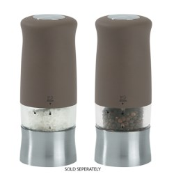 "Peugeot Zephir Electric Salt or Pepper Mill - Soft Touch, 5.5"" in Basalte"