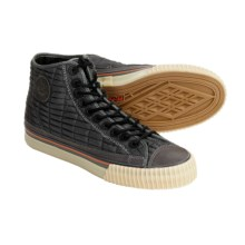 PF-Flyers Center Hi Quilted High-Top Sneakers (For Men and Women) in Grey - Closeouts