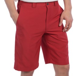 PGA Tour Flat Front Shorts - UPF 50+ (For Men) in Lime Punch Plaid