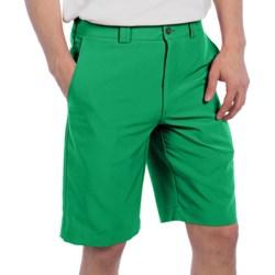 PGA Tour Flat Front Shorts - UPF 50+ (For Men) in Poseidon Plaid