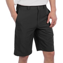 PGA Tour Flat Front Shorts - UPF 50+ (For Men) in Bright White/Blue Plaid